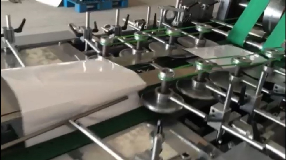 sheet feed paper bag making machine